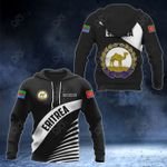 Customize Eritrea Coat Of Arms Black Style All Over Print Hoodies