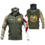 Customize Florida Seal And Flag Camo All Over Print Neck Gaiter Hoodie