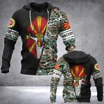 Macedonian Army Mask Style All Over Print Hoodies