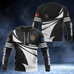 Customize Moldova Coat Of Arms New Style 3D Print All Over Print Hoodies