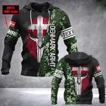 Customize Denmark Army Mask Style All Over Print Hoodies