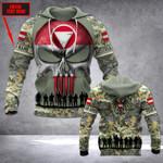 Customize Austrian Army Veteran Skull All Over Print Hoodies