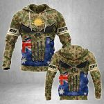 Customize Australian Army Heroes All Over Print Hoodies