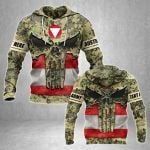 Customize Austrian Army Heroes All Over Print Hoodies