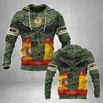 Customize Spain Army Heroes All Over Print Hoodies