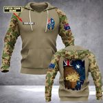 Customize Australian Army Emblem & Flag All Over Print Hoodies