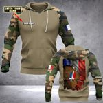 Customize French Army Logo & Flag All Over Print Hoodies