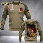Customize German Army Logo & Flag All Over Print Hoodies