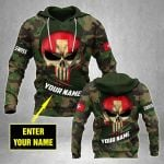 Customize Swiss Army Camo Skull Flag All Over Print Hoodies