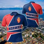 Norway Pride All Over Print Polo Shirt