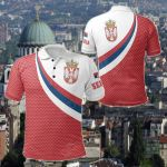 Serbia Flag (Red) All Over Print Polo Shirt