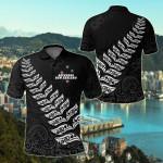 New Zealand Aotearoa Maori Fern All Over Print Polo Shirt