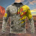 New Mexico Flag 3D Camo All Over Print Hoodies