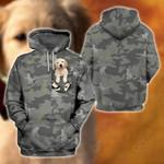 Golden Retriever Puppy Camo All Over Print Shirts