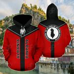 Albania Rising All Over Print Hoodies