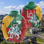Lithuania Special Style All Over Print Hoodies