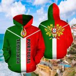 Portugal Rising All Over Print Hoodies