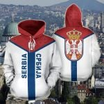 Serbia Rising All Over Print Hoodies
