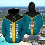 The Bahamas Rising All Over Print Hoodies