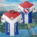 Paraguay Rising All Over Print Polo Shirt