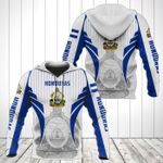 Honduras Coat Of Arms Special Form All Over Print Hoodies