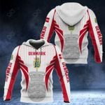 Denmark Coat Of Arms Special Form All Over Print Hoodies