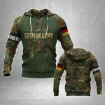 Customize German Army Mask Camo All Over Print Hoodies