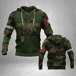 Customize Switzerland Army Mask Camo All Over Print Hoodies