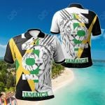 Jamaica Lion With Flag Color All Over Print Polo Shirt