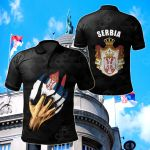 Serbia - Serbian Is Me All Over Print Polo Shirt