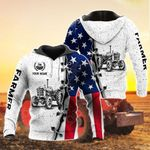 Customize Farmer US Flag All Over Print Hoodies