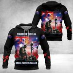Stand For The Flag Kneel For The Fallen All Over Print Hoodies