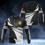 Customize Andorra Coat Of Arms New Style 3D Print All Over Print Hoodies