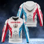 Luxembourg Coat Of Arms Special Form All Over Print Hoodies