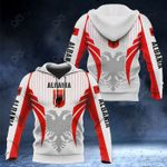 Albania Coat Of Arms Special Form All Over Print Hoodies