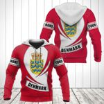 Customize Denmark Coat Of Arms Flag - New Form All Over Print Hoodies