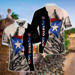 Puerto Rico Flag Coqui All Over Print Polo Shirt