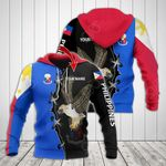 Customize Philippines Flag Eagle All Over Print Hoodies