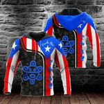 Puerto Rico Flag Taino All Over Print Hoodies