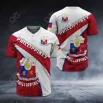 Customize Philippines Coat Of Arms All Over Print Baseball Jersey Shirt