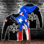 Custom Name Puerto Rico Taino Sun All Over Print Shirts