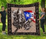 Puerto Rico Taino Coqui Premium Quilt