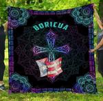 Puerto Rico Boricua Cross Premium Quilt