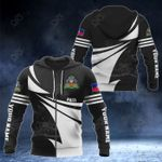 Customize Haiti Coat Of Arms New Style 3D Print All Over Print Hoodies