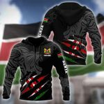Customize Kenya Lion - Scratch Style All Over Print Hoodies