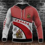 Canada Coat Of Arms Hexagon Pattern All Over Print Hoodies