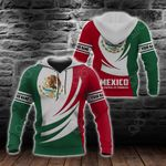 Customize Mexico Flag 3D New Form All Over Print Hoodies