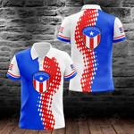 Puerto Rico Cycling All Over Print Polo Shirt