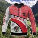 Austria Coat Of Arms Hexagon Pattern All Over Print Hoodies