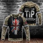 Customize United Kingdom Flag Camo Spartan All Over Print Hoodies